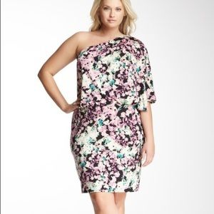 JESSICA SIMPSON One Shoulder Printed Dress